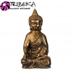 LUMANARE DECORATIVA AURIU INCHIS BUDDHA 3D - 10x5x15cm