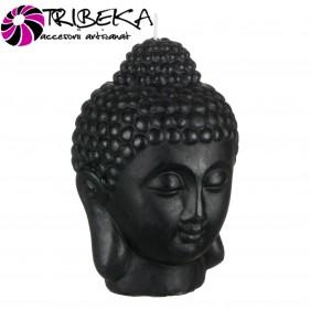 LUMANARE DECORATIVA NEAGRA CAP BUDDHA 3D - 14x18cm
