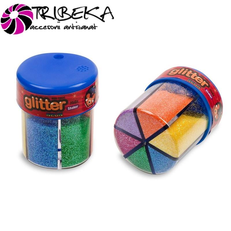 GLITTER NEON, 6 CULORI - 6 X 12,5gr