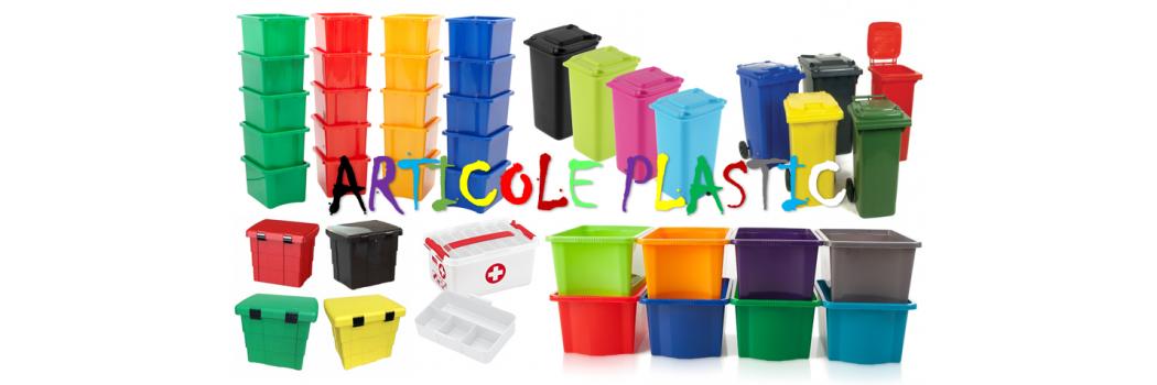 Articole din plastic, cutii din plastic, cutii. cutiute, tomberoane
