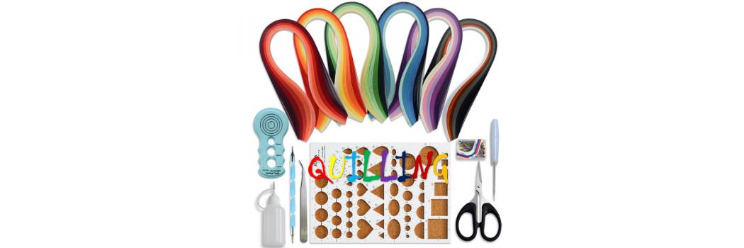 Hartie pentru quilling, de diferite dimensuni, culori si grosimi
